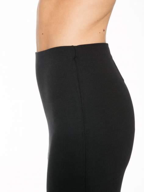 Czarna spódnica tuba z wydłużanym tyłem                                  zdj.                                  7