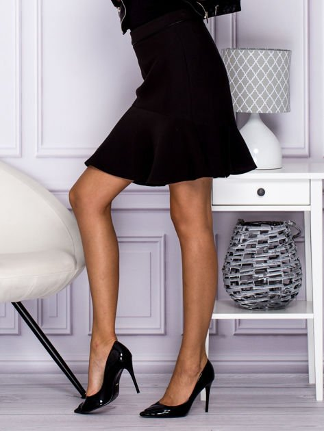 Czarna spódnica z falbaną                              zdj.                              3