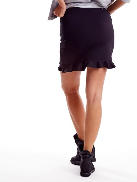 Czarna spódnica z falbaną                              zdj.                              2