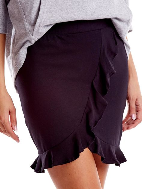 Czarna spódnica z falbaną                              zdj.                              7