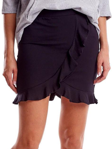 Czarna spódnica z falbaną                              zdj.                              1