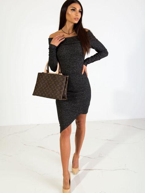 Czarna sukienka Classy                              zdj.                              4