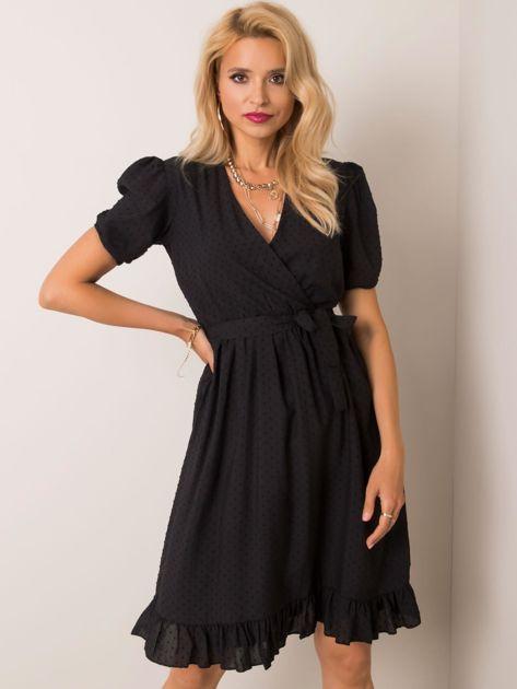 Czarna sukienka Colette RUE PARIS