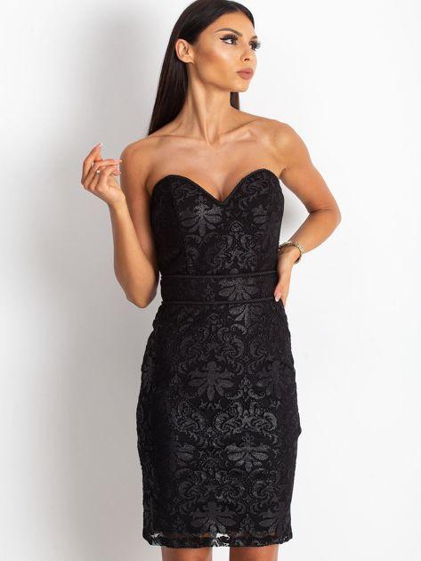 Czarna sukienka Diamond                              zdj.                              5