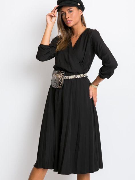 Czarna sukienka Gingham                              zdj.                              5