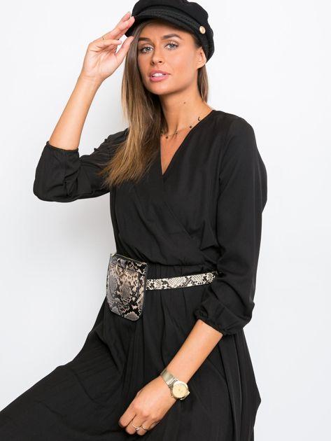 Czarna sukienka Gingham                              zdj.                              6