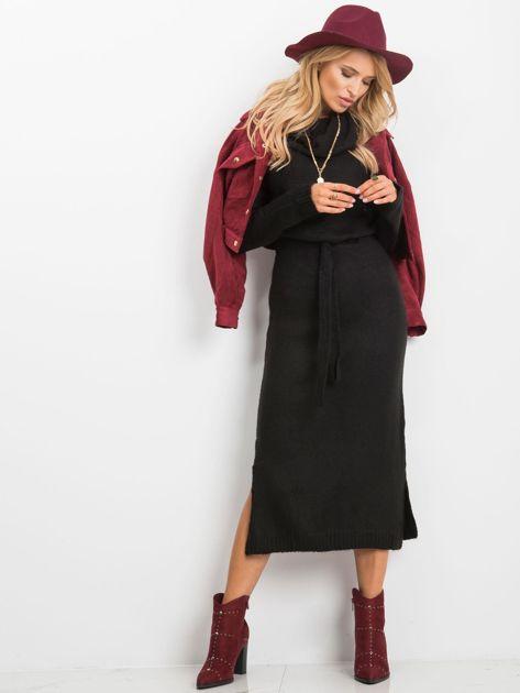 Czarna sukienka Peace                              zdj.                              4