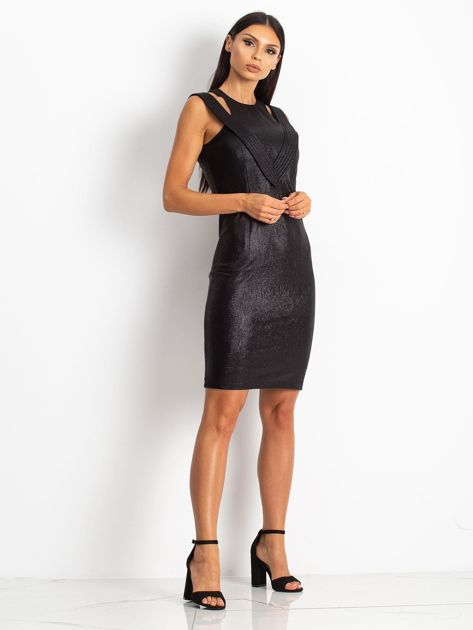 Czarna sukienka Piano                              zdj.                              4