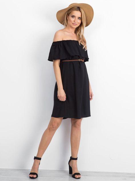 Czarna sukienka Reputedly                              zdj.                              4