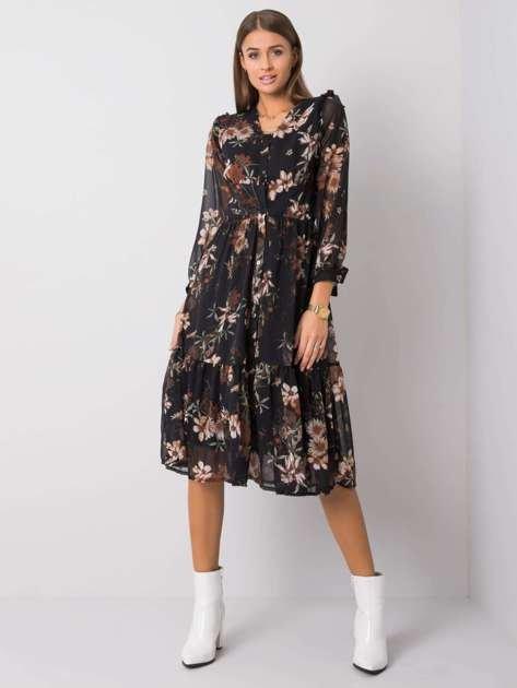 Czarna sukienka Sissy RUE PARIS