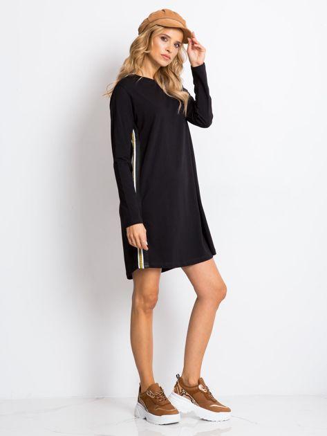 Czarna sukienka Temple                              zdj.                              4