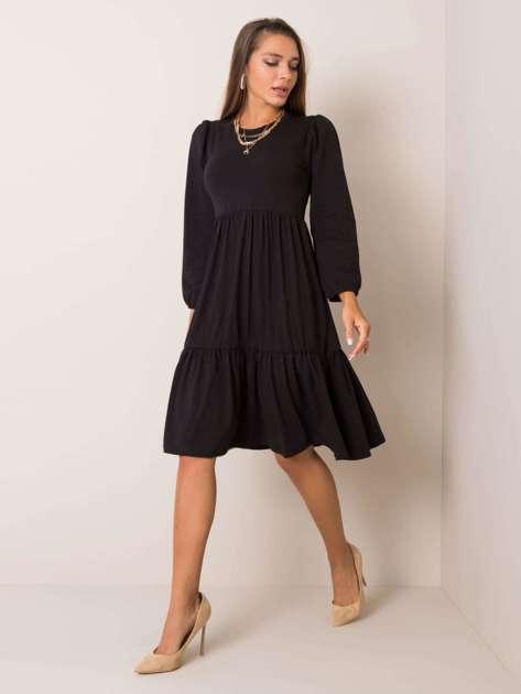 Czarna sukienka Yonne RUE PARIS