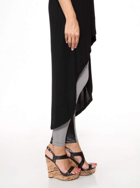 Czarna sukienka bez ramiączek z dłuższym tyłem                                  zdj.                                  10