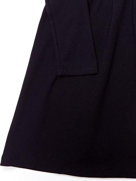 Czarna sukienka dla dziewczynki z perełkami                              zdj.                              8