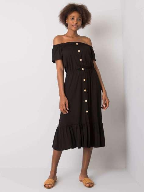 Czarna sukienka hiszpanka z falbaną Aphrodite