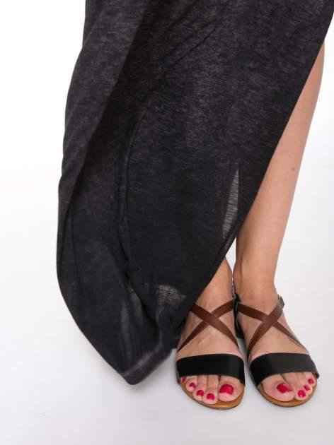 Czarna sukienka maxi z efektem sprania                                  zdj.                                  5
