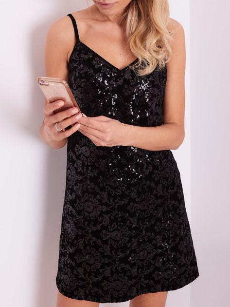 Czarna sukienka mini                               zdj.                              6
