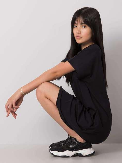 Czarna sukienka na co dzień Rianna RUE PARIS