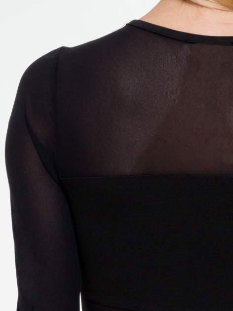 Czarna sukienka tuba z transparentnymi modułami                                  zdj.                                  7