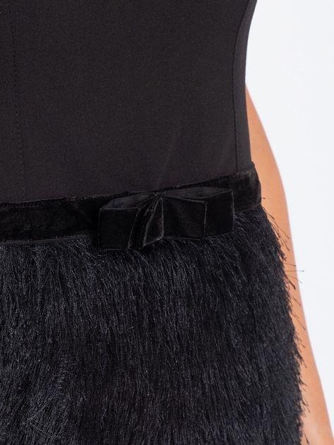 Czarna sukienka z frędzelkami                               zdj.                              5