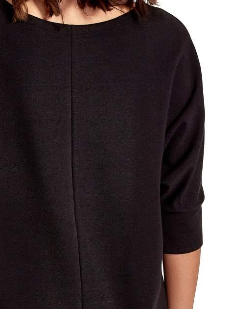 Czarna sukienka z rękawem przed łokieć                                  zdj.                                  7