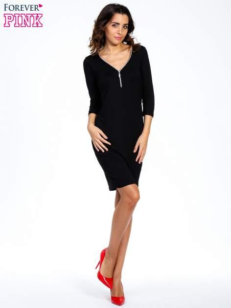 Czarna sukienka z suwakiem                                  zdj.                                  8
