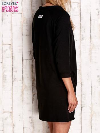 Czarna sukienka z troczkami                                  zdj.                                  4