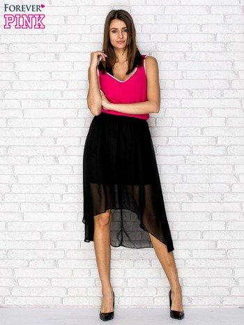 Czarna tiulowa sukienka z krzyżowanymi plecami                                  zdj.                                  2