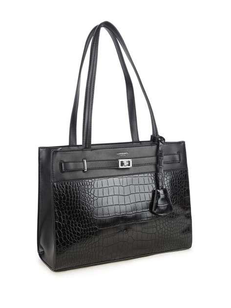 Czarna torba damska z motywem zwierzęcym LUIGISANTO