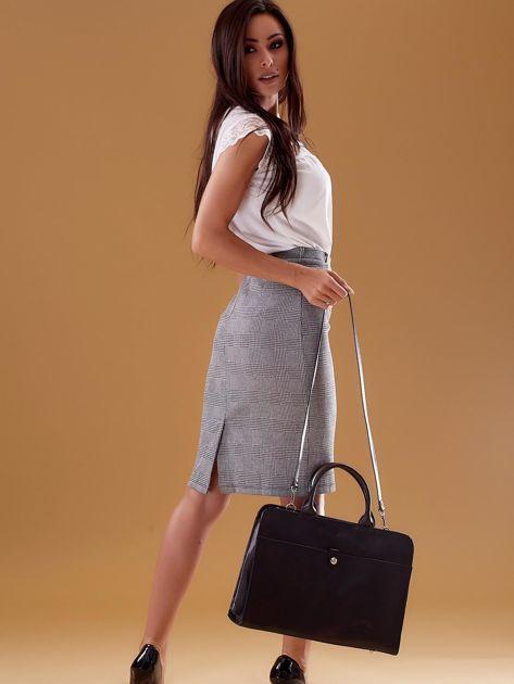 Czarna torba damska ze skóry w miejskim stylu                              zdj.                              9
