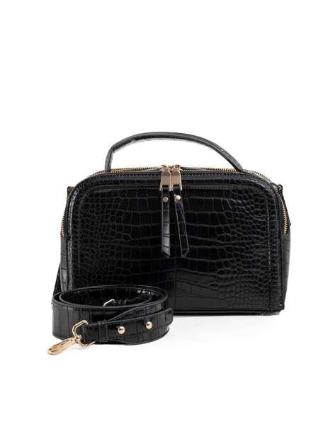 Czarna torba kuferek LUIGISANTO