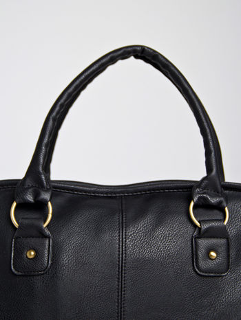 Czarna torba miejska na ramię                                  zdj.                                  3
