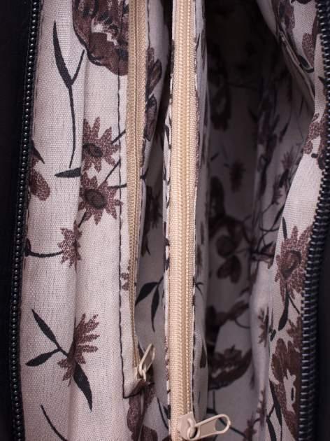 Czarna torba miejska z odpinanym paskiem                                  zdj.                                  5