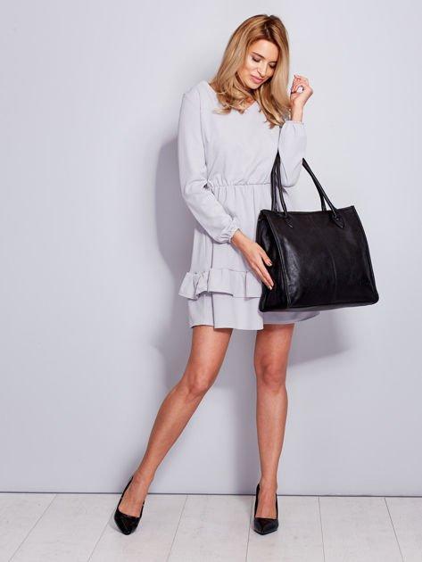 Czarna torba na ramię w miejskim stylu                              zdj.                              8
