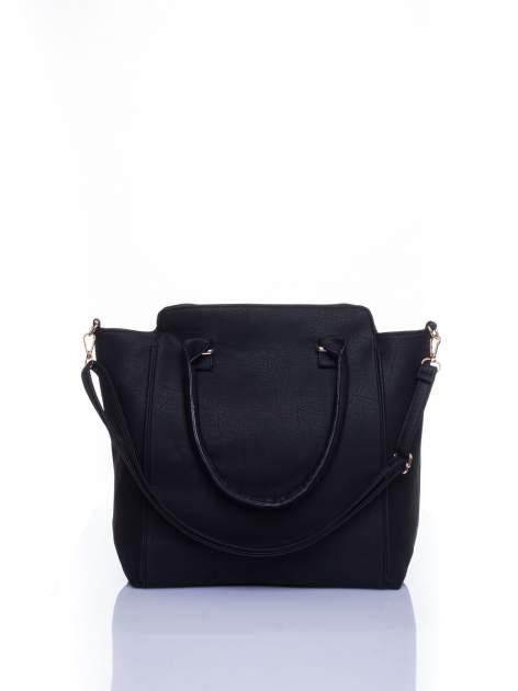 Czarna torba shopper bag