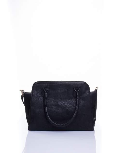 Czarna torba shopper bag z zawieszką                                  zdj.                                  2