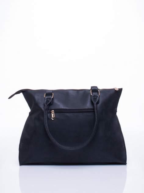 Czarna torba shopper bag ze złotymi ćwiekami                                  zdj.                                  3