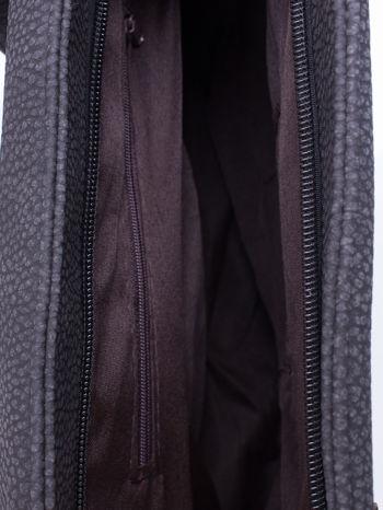Czarna torba shopperka z odczepianym paskiem                                   zdj.                                  5