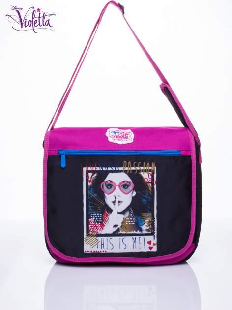 Czarna torba szkolna na rzep DISNEY Violetta                                  zdj.                                  1