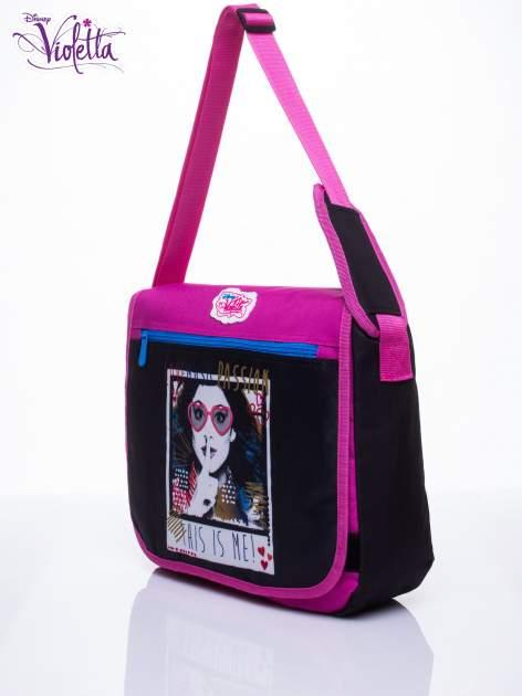 Czarna torba szkolna na rzep DISNEY Violetta                                  zdj.                                  2