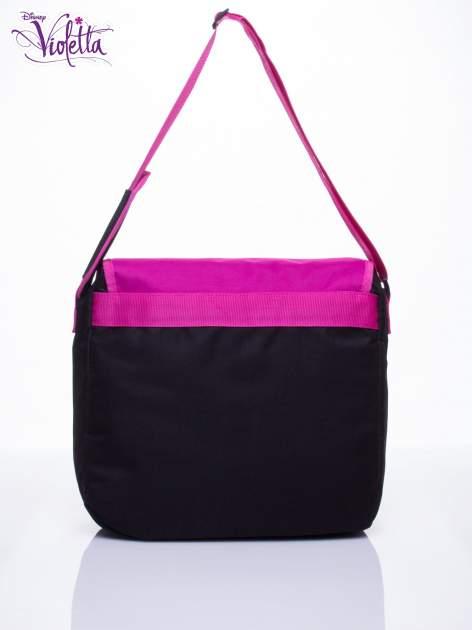 Czarna torba szkolna na rzep DISNEY Violetta                                  zdj.                                  3