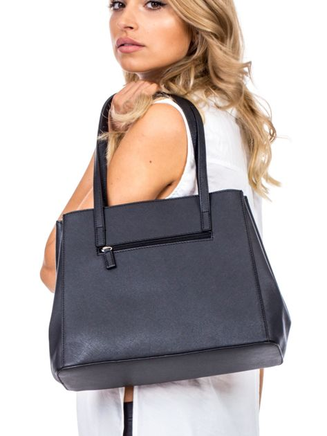 Czarna torba w miejskim stylu                              zdj.                              4