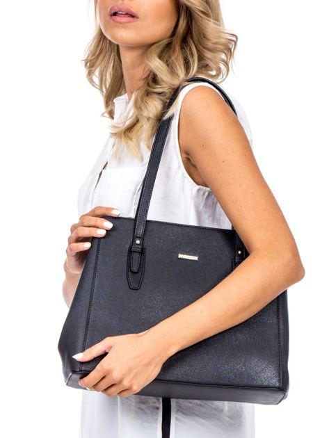Czarna torba w miejskim stylu                              zdj.                              5