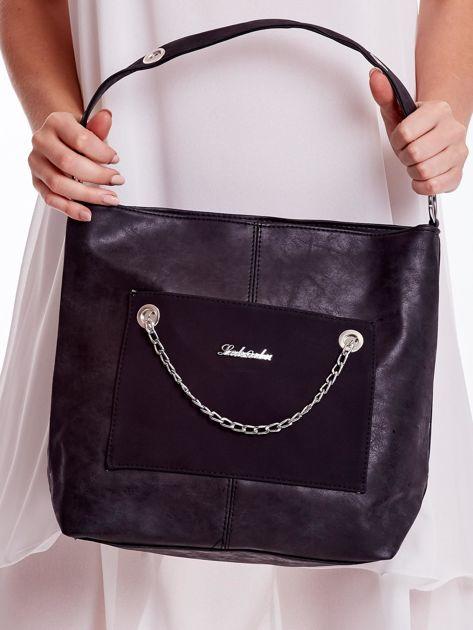 Czarna torba z łańcuszkiem                              zdj.                              5