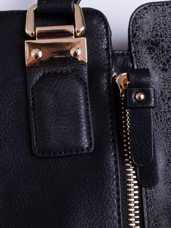Czarna torba z suwakami i szarymi wstawkami po bokach                                  zdj.                                  5