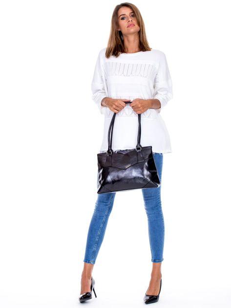Czarna torebka damska ze skóry ekologicznej                              zdj.                              3
