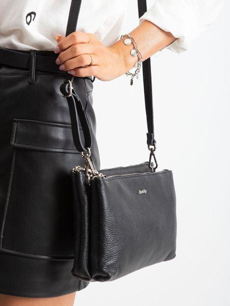 Czarna torebka damska ze skóry naturalnej                              zdj.                              2