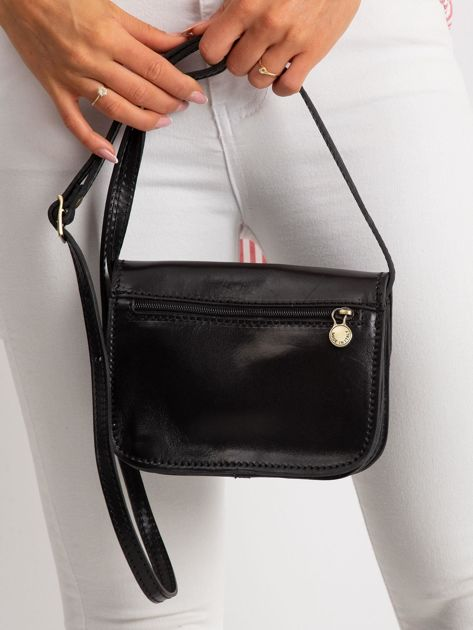 Czarna torebka damska ze skóry naturalnej                              zdj.                              5