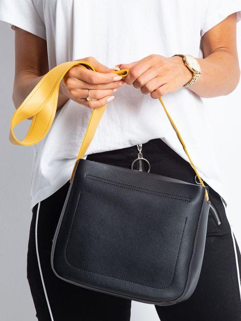 Czarna torebka na ramię                              zdj.                              2