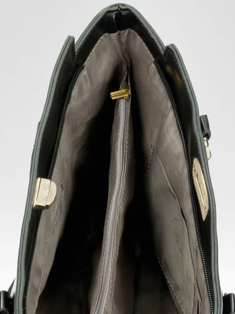 Czarna torebka na ramię z dżetami                                  zdj.                                  10